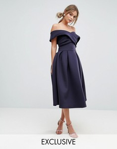 Приталенное платье для выпускного True Violet - Темно-синий