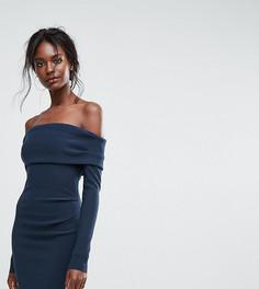 Эксклюзивное платье мини с открытыми плечами Bec & Bridge - Синий