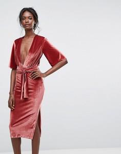 Платье с V-образным вырезом Bec & Bridge - Розовый