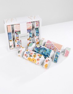 Подарочный набор в упаковках-хлопушках с принтом тканей и цветов Vintage & Co - Бесцветный Beauty Extras