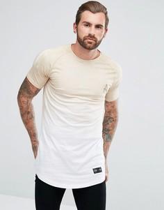 Обтягивающая футболка с эффектом деграде Aces Couture - Светло-серый