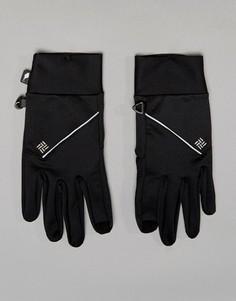 Черные беговые перчатки для сенсорных гаджетов Columbia Trail Summit - Черный