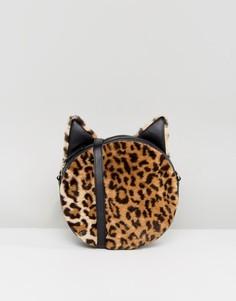 Сумка через плечо с леопардовым принтом Monki - Мульти