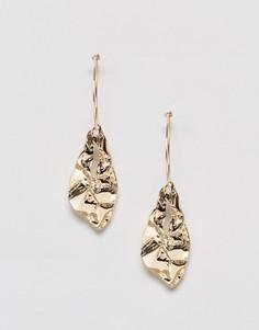 Серьги-кольца с подвесками Monki - Золотой