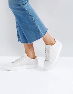 Кроссовки с принтом Selected - Белый