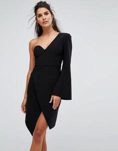Структурированное платье с одним рукавом Finders Keepers Chances - Черный