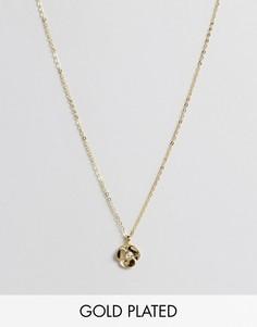 Ожерелье с цветочной подвеской Ted Baker - Золотой