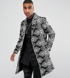 Черное пальто в стиле барокко Reclaimed Vintage Inspired - Черный