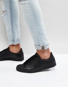 Черные кожаные кроссовки Armani Jeans - Черный