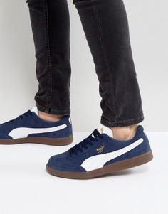 Замшевые кроссовки Puma Liga - Синий