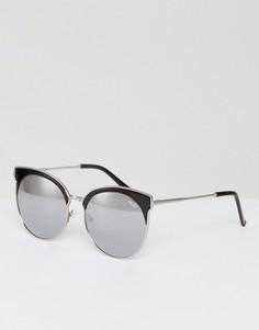 Черные солнцезащитные очки в стиле ретро Quay Australia Mia - Черный