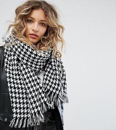 Оверсайз-шарф в ломаную клетку Reclaimed Vintage Inspired - Белый