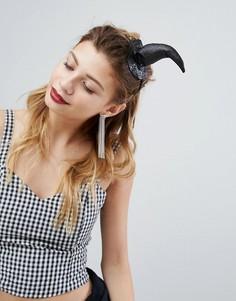 Украшение на голову со шляпой ведьмы PrettyLittleThing Halloween - Черный