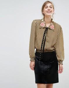 Блузка с вышивкой на воротнике Sister Jane - Мульти