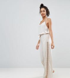Комбинезон-пижама с кружевными вставками New Look Tall - Бежевый