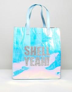 Переливающаяся сумка с надписью Shell Yeah Skinnydip - Мульти