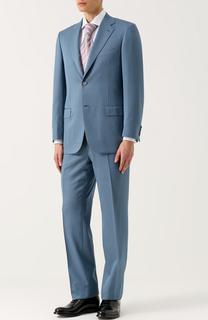 024c217bd81d Костюм из смеси шерсти и шелка с пиджаком на двух пуговицах Brioni