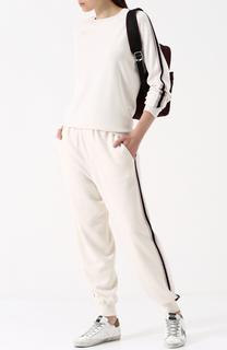 Шелковый костюм с джоггерами и пуловером Olivia Von Halle