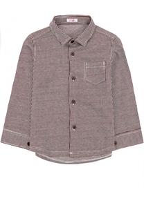 Хлопковая рубашка в контрастную полоску Il Gufo