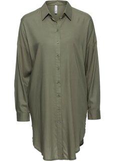 Удлиненная блузка (оливковый) Bonprix