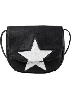 Сумка Звезда на ремне через плечо (черный/серебристый) Bonprix