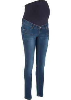 Узкие джинсы для беременных (синий) Bonprix