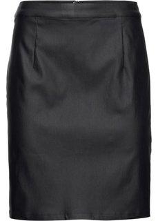 Юбка с покрытием (черный) Bonprix