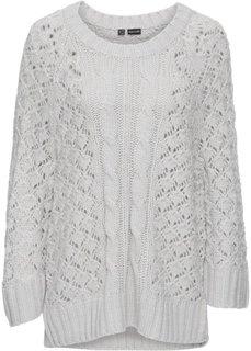 Пуловер в стиле оверсайз (серый) Bonprix