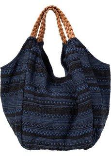 Вязаная сумка (черный/темно-синий) Bonprix