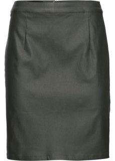 Юбка с покрытием (темно-оливковый) Bonprix