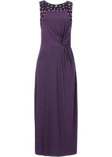 Платье макси с декором из стразов (виноградный) Bonprix