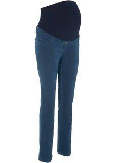 Для будущих мам: прямые вельветовые брюки (темно-синий) Bonprix