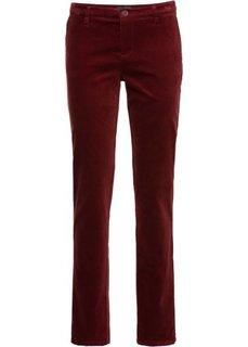 Бархатистые брюки (темно-красный) Bonprix