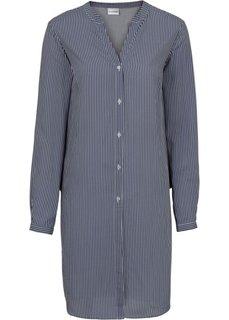 Длинная блузка в полоску (цвет белой шерсти/темно-синий в полоску) Bonprix