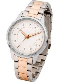 Двухцветные наручные часы (серебристый) Bonprix