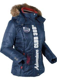 Функциональная стеганая куртка (темно-синий) Bonprix