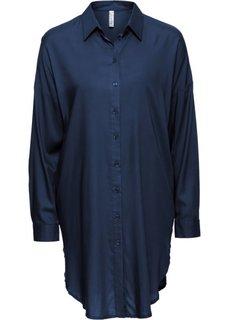 Удлиненная блузка (темно-синий) Bonprix