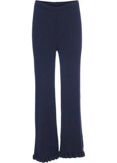 Вязаные брюки (темно-синий) Bonprix