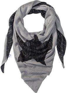 Двухсторонний треугольный шарф (серый/черный) Bonprix