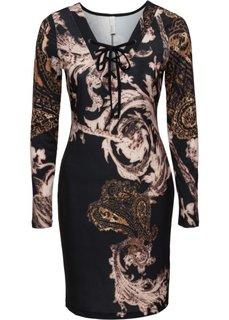 Платье с принтом (черный) Bonprix