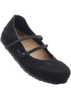 Удобные замшевые туфли (черный) Bonprix