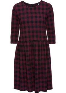 Трикотажное платье (темно-красный/черный в клетку) Bonprix