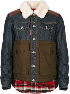 стеганая куртка с накладными карманами Dsquared2