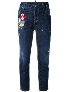 укороченные джинсы с нашивками Good Girl Dsquared2