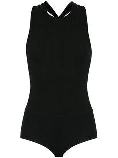 cross back bodysuit Giuliana Romanno