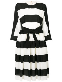 striped belted dress Maison Rabih Kayrouz