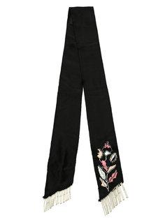 embroidered scarf Andrea Bogosian