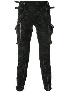 брюки карго с камуфляжным принтом Faith Connexion