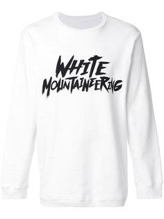 топ с логотипом White Mountaineering