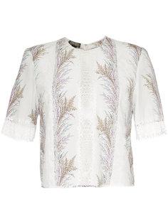 блузка с оборкой и вышивкой  Giambattista Valli